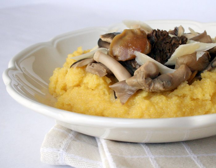 it at that, and let the photo talk. Creamy polenta, wild mushrooms ...