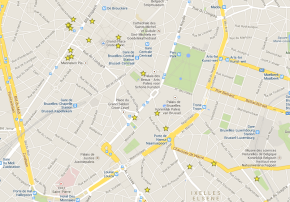 wi-fi spots in #Brussels - map @onfoodandwine